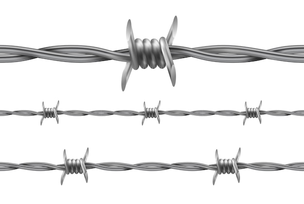 Barbed wire. repetitive, seamless pattern