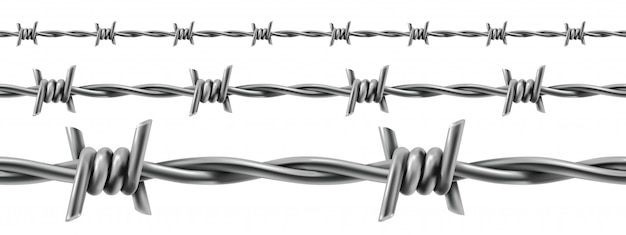 Barbed wire seamless, 3d