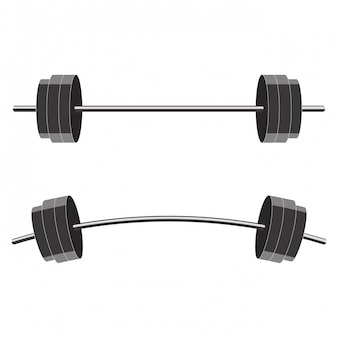 Barbells isolated on white background.
