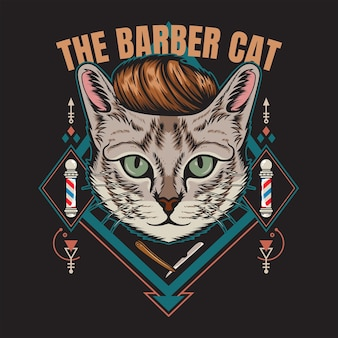 The barber cat