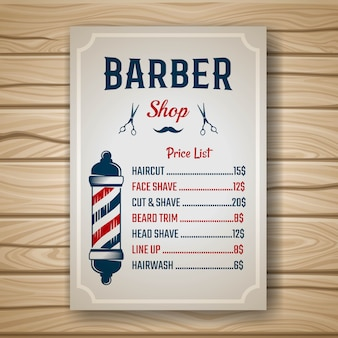 Barber colored price