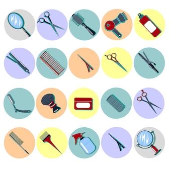 Barber hairdresser tools