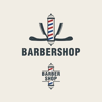 Barber pole logo template