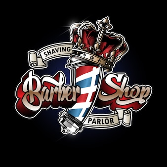 Barber pole logo