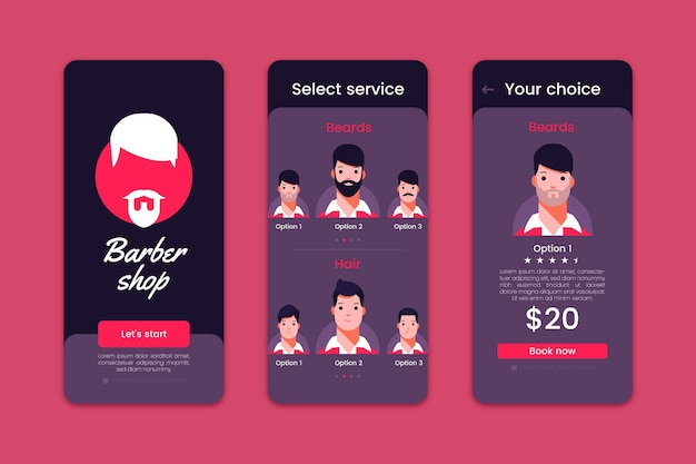 Barber shop appointment booking app