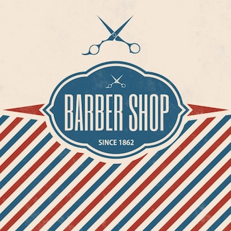 Barber shop background design