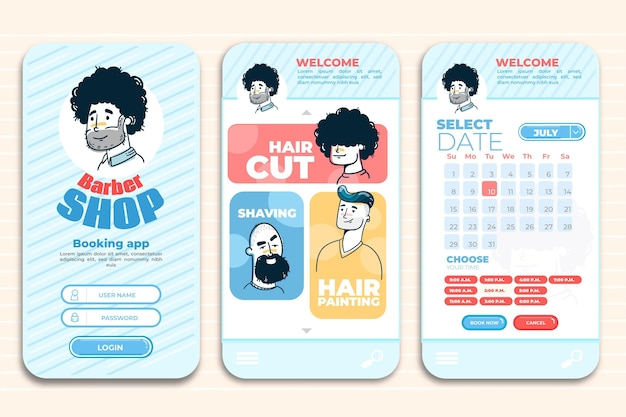 Barber shop booking app template