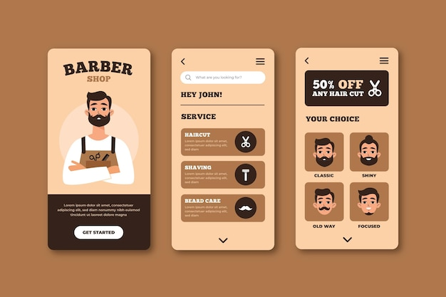 Barber shop booking app theme