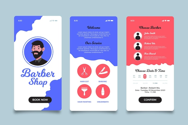 Barber shop booking app