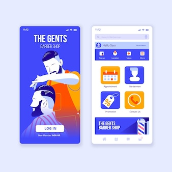 Barber shop booking application template
