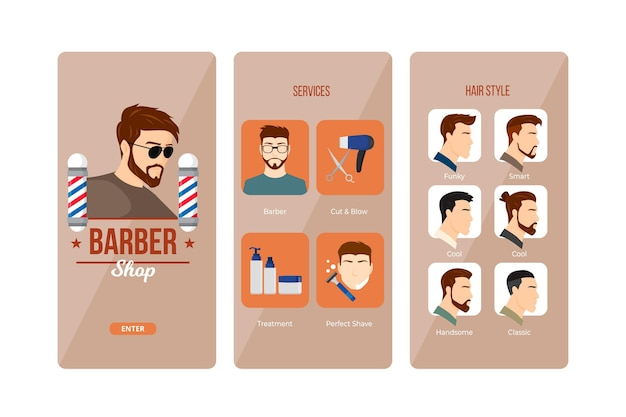 Barber shop booking application