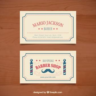 Barber shop card with a vintage frame