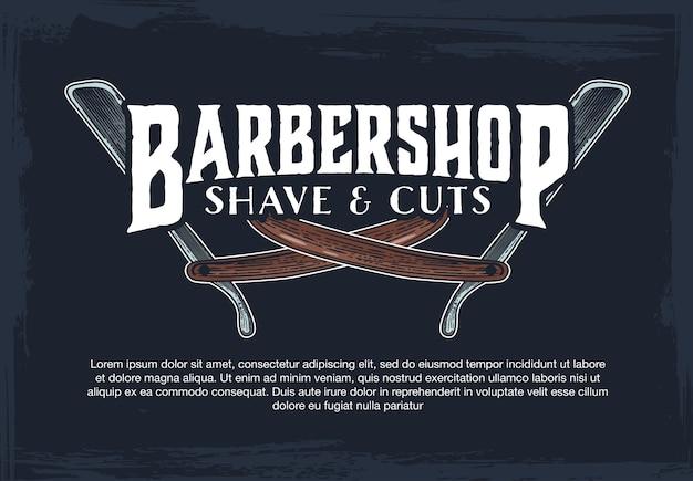 Barber shop hipster vintage sign template
