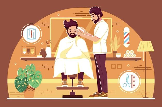Barber shop illustration concept