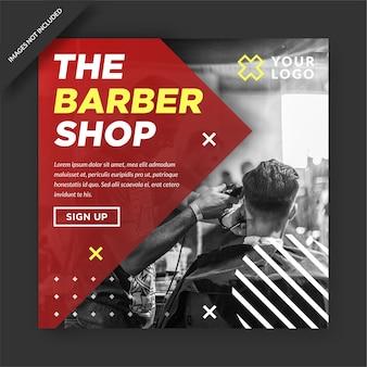Barber shop instagram and social media post promotion