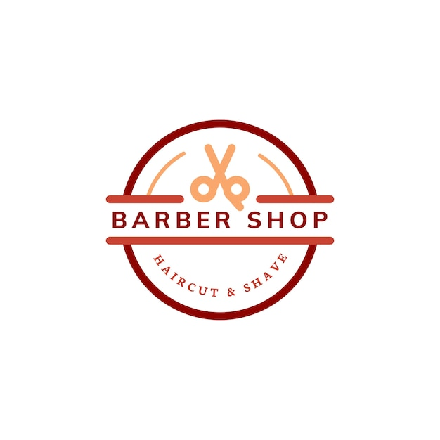 Barber shop logo design illustration