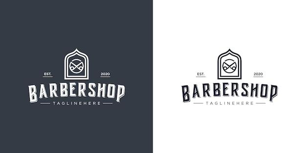 理髪店のロゴ。