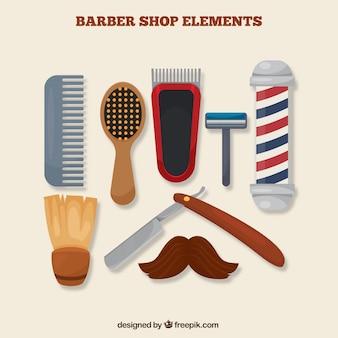 Barber shop objects set