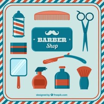 Elementi vintage shop barber