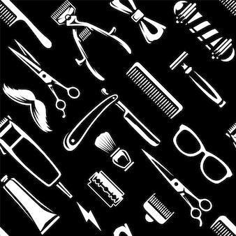 Парикмахерские инструменты бесшовных текстур