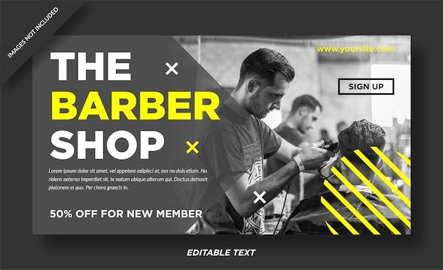 Barbershop banner web design social media post