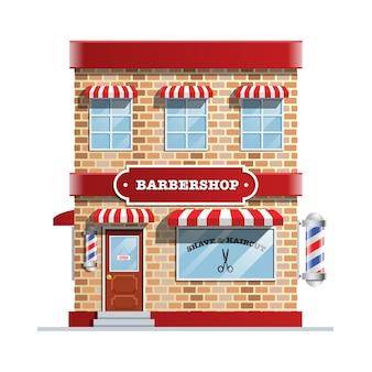 理髪店の建物