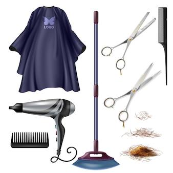 理髪店の美容院用具および付属品