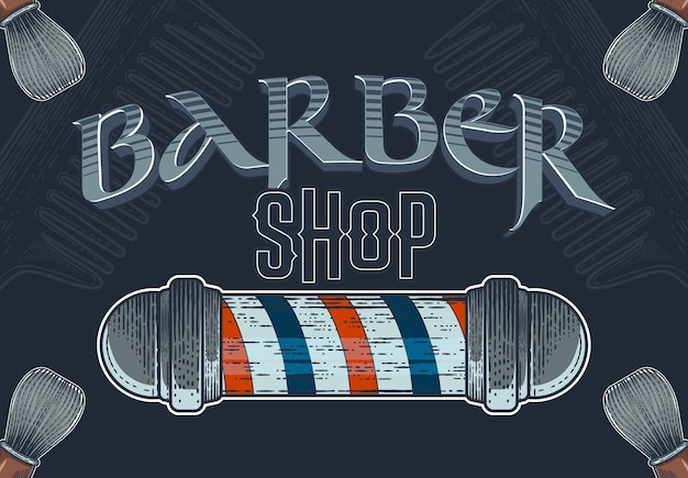 Barbershop hand drawn banner