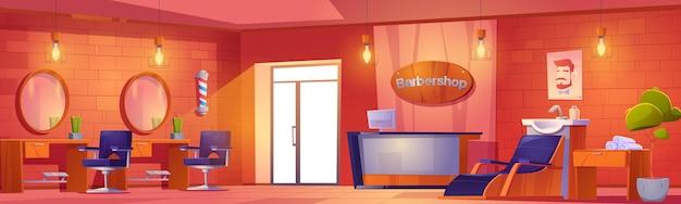 Salone di bellezza per interni da barbiere o studio per uomini