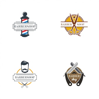 Barbershop logo collection