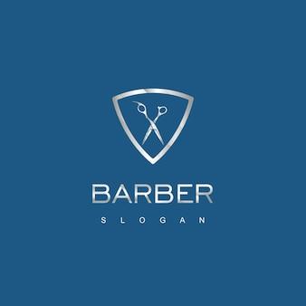 理髪店のロゴデザインテンプレート