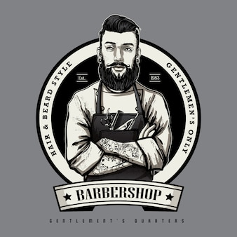 Barbershop logo template