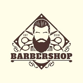 Barbershop logo template