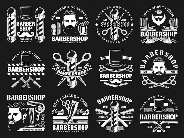 Barbershop premium haircut salon, beard shaving