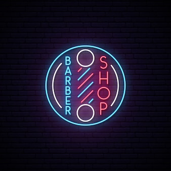 Barbershop retro neon sign.