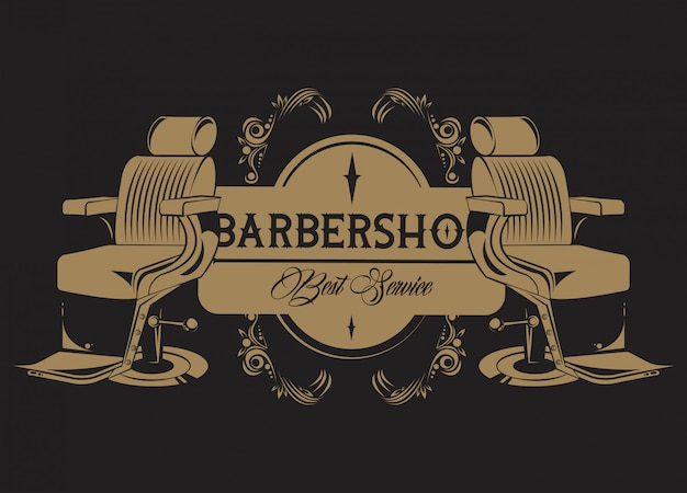 Винтажная эмблема парикмахерской