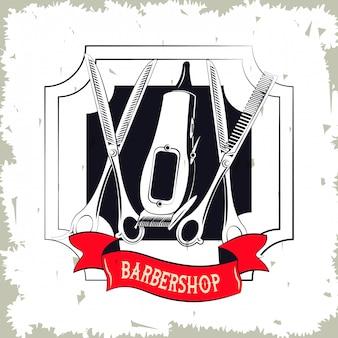 Barbershop vintage emblem