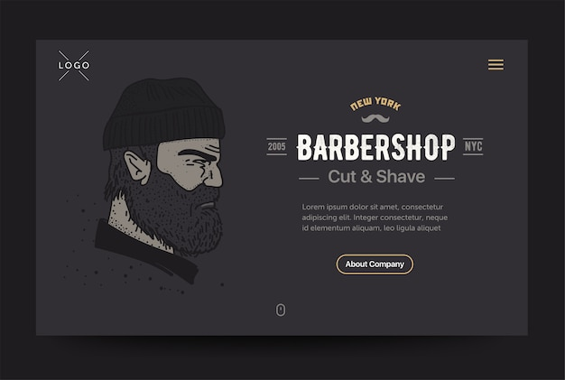 Barbershop website template
