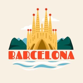 Barcelona city lettering