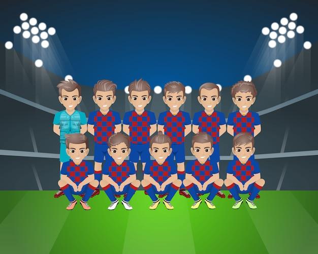 Футбольная команда барселоны