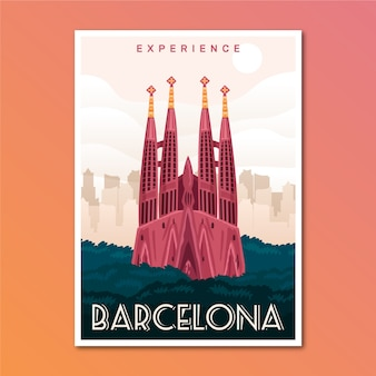 Barcelona holiday travel poster