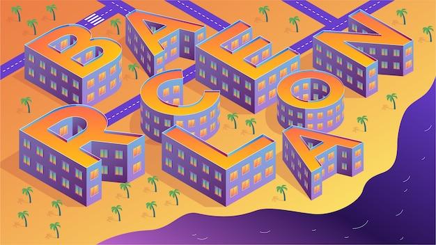 Барселона изометрический дизайн