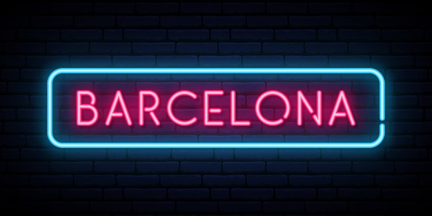 Barcelona neon sign.