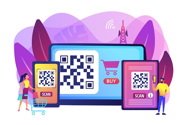 Barcode reading app illustration