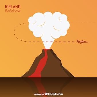 Bardarbunga volcano vector
