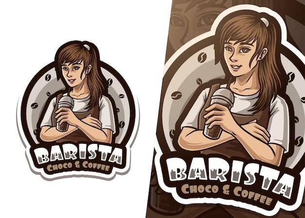 バリスタマスコットロゴ