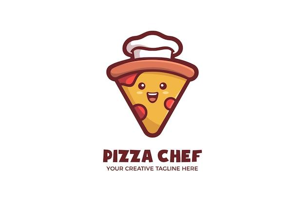 Шаблон логотипа талисмана пиццы бариста