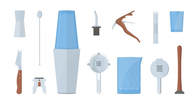 Комплект оборудования для барменов.