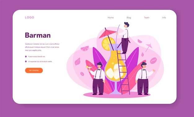 Barman web banner or landing page
