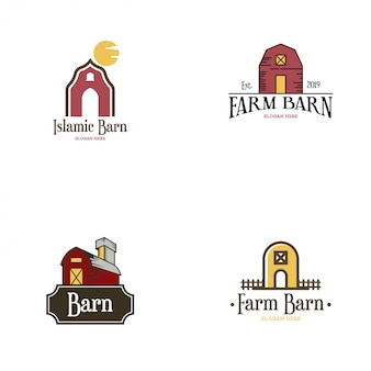 Barn logo set